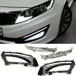 Kspeed 12 Led Daytime Running Light Drl Lamps For 2011 13 Kia Optima K5 W Bezel