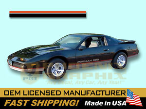 1986 1987 1988 Pontiac Firebird Formula And 350 Lower Body Decals