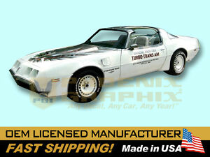 1980 Pontiac Firebird Turbo Trans Am Indy 500 Pace Car 37 Piece Stripes Only Kit
