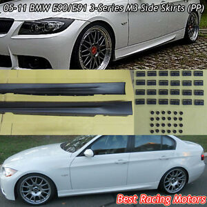 M Style Side Skirts pp Fits 05 11 Bmw E90 E91 4 5dr 3 series