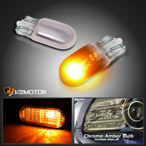 Invisible Chrome Bulbs Amber Lamps 2pc T10 194 W5w Signal Side Marker Light