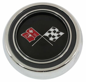 1967 Corvette Steering Wheel Horn Button Emblem Assembly Made In The Usa