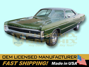 1970 Plymouth Sport Fury Gt Complete Reflective Decals Strobe Stripes Kit