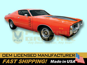 1972 Dodge Charger Rallye Complete Decals Stripes Kit