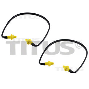 2 Titus Ear Plugs Buds U Band Neck Hearing Protection Noise Protector