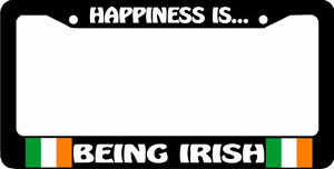 Happiness Is Being Irish Flag Ireland License Plate Frame