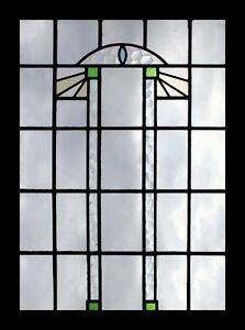 Very Stylish Art Deco English Stained Glass Window