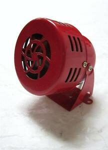 New 50s Type 12v Motor Driven Red Air Raid Siren Horn Alarm Car Truck 12 Volt