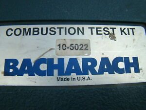 Bacharach Combustion Test Kit 105022 W Pca 25 Portable Combustion Analyzer