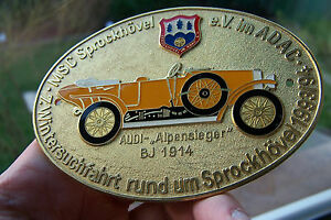 Adac Wintersuchfahrt Car Badge Showing Legendary German Audi alpensieger 1914