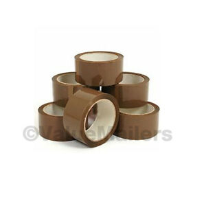 Tape 42 Rolls Tan Quality Packaging 2 Mil Packing Move Box Carton Sealing 2x110