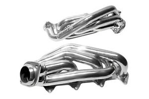2005 2010 Ford Mustang Gt 4 6l Bbk 1 5 8 Silver Ceramic Short Tube Headers