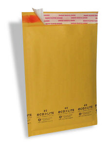 250 0 6 5x10 Ecolite X Wide Kraft Bubble Mailers Padded Envelopes Bags Cd Dvd