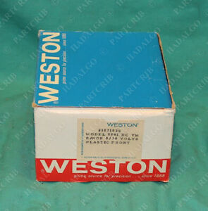 Weston Model 1941 Dc Voltmeter 0 30v 30vdc 0 30 Volts Panel New