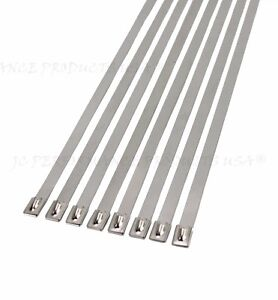 10 Extra Wide 18 Ss Stainless Steel Cable Ties Wire Strap Zip Clamps Rust Proof