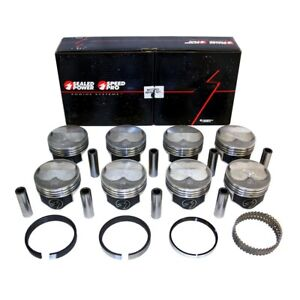 Speed Pro H635cp40 Chevy 383 200 Dome Pistons 5 7 Rod Fmp Moly Rings 040 Sbc