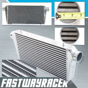 Universal 30 5 x12 x3 0 Turbo Fmic Aluminum Front Mount Intercooler Polished
