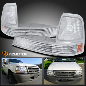 98 00 Ford Ranger Clear Corner Turn Signal Bumper Parking Lights Left Right