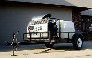 Hot Water Trailer Mounted Pressure Washer Mobile Cleaning Equipment
