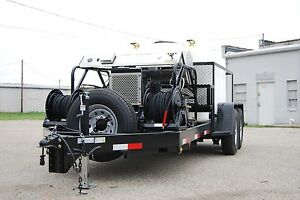 Pressure Washer Trailer Mobile Wash Equipment Diesel Power Washer For Sale