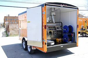 Pressure Washer Trailer Hot Or Cold Water Power Washer Mobile Cleaning Equip