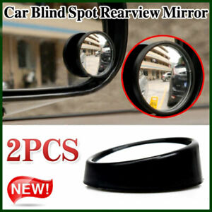 2pcs Black 2 2 Round Convex Car Vehicle Wide Angle Blind Spot Rear View Mirror