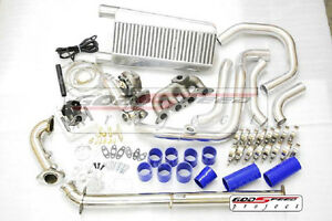 01 05 Honda Civic D17 T3 Complete Direct Bolt On Turbo Charger Kit
