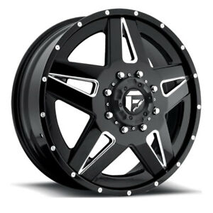 24 Fuel Offroad D254 Dually Full Blown Forged Wheel Set 24x8 25 Rims 2 Piece
