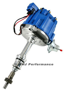 Sbf Small Block Ford 351w Windsor Hei Distributor Blue Cap W 65k Coil One Wire
