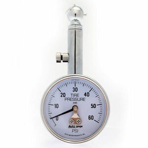 Auto Meter Mechanical Tire Pressure Gauge 0 60 Psi 2343