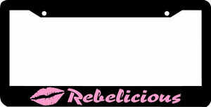 Rebelicious Pink Rebel Country Girl License Plate Frame