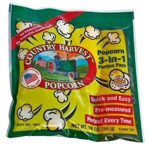 Country Harvest Popcorn Portion Pack For 8 Oz Poppers 40 Packs In The Case