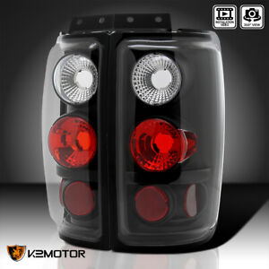 1997 2002 Ford Expedition Black Rear Brake Lamps Tail Lights Pair Replacement