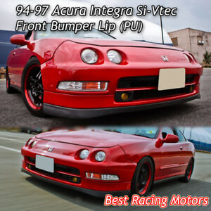 Si Vtec Style Front Bumper Lip Urethane Fits 94 97 Acura Integra 4dr