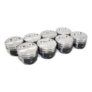 Speed Pro Fmp H345dcp 350 Small Block Chevy Flat Top Pistons Coated Piston 5 7