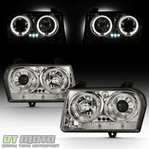 2005 2007 Chrysler 300 Led Halo Projector Headlights Lights Lamps Left Right Set