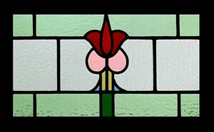 Amazing Forest Flower Antique English Stained Glass Window