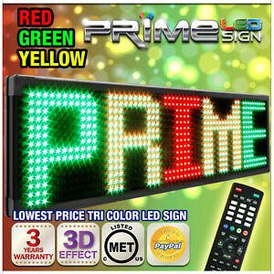 30mm Tricolor 60 x22 Programmable Led Sign Scrolling Message Display Out indoor