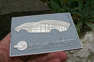 Rare German Bitter Car Meeting Stuttgart Badge Legendary Erich Bitter Cd sc