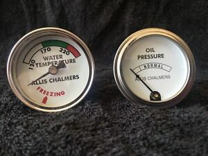 Allis Chalmers Water Temp And Oil Pressure Gauges Guages