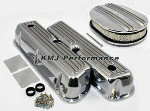 Sbf Ford 289 302 351w Ford Finned Retro Aluminum Valve Covers Air Cleaner Kit