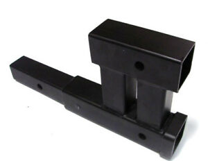 Dual 2 Trailer Hitch Receiver Rise Drop Adapter Extender Extension 4000lb Tow