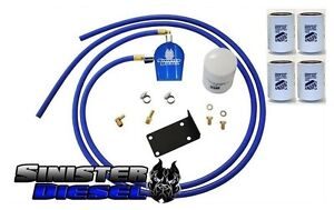 Sinister Coolant Filtration System W 4 Extra Filters For 07 09 Dodge Cummins 6 7