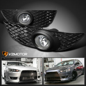 2008 2012 Mitsubishi Lancer Clear Bumper Fog Lights Switch Kit