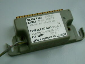 Leeds Northrup Type K 0 1200 f Range Card 650024