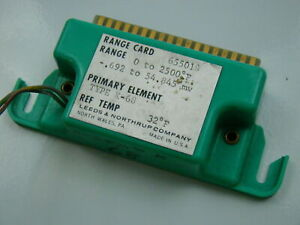 Leeds Northrup Type K 0 2500 f Range Card 655018