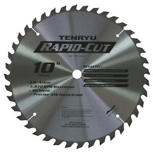 Tenryu Rs 25540 10 inch 40t Rapid cut Blade For Woodworking