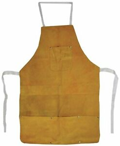 Leather Heat resistant Safety Apron Welding Bib Melting Refining Gold Silver 32