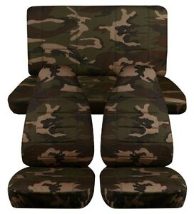 1997 2002 Jeep Wrangler Seat Covers Army Camouflage 31 Front And Rear