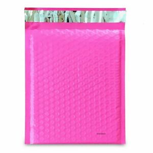 100 2 Pink Poly Bubble Mailers Envelopes Padded Mailer Shipping Bags 8 5x12